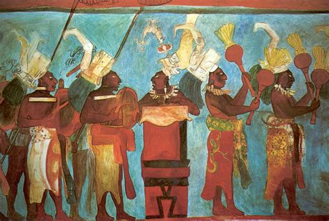 imagenes de murales mayas bonak room 1