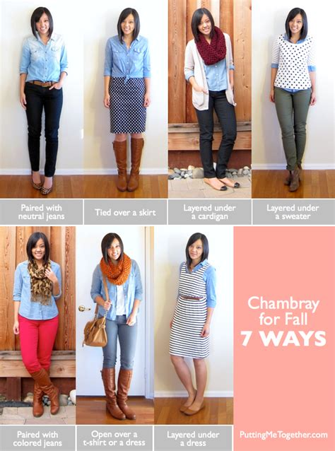 wardrobe tips putting me together how to wear chambray for fall 7
