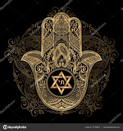 jewish hamsa tattoo stock vector 169 yulianas 137199578