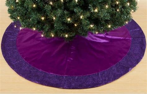 purple christmas tree skirt 10 th anniversary pinterest