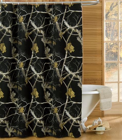 ducks unlimited shower curtain camo bathroom decor realtree ap black shower curtain camo