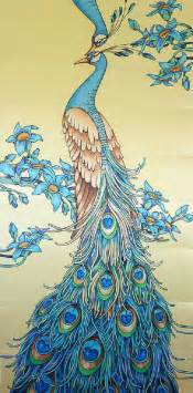 Yellow Silk Flowers - peacocks peacock artwork and art nouveau on pinterest