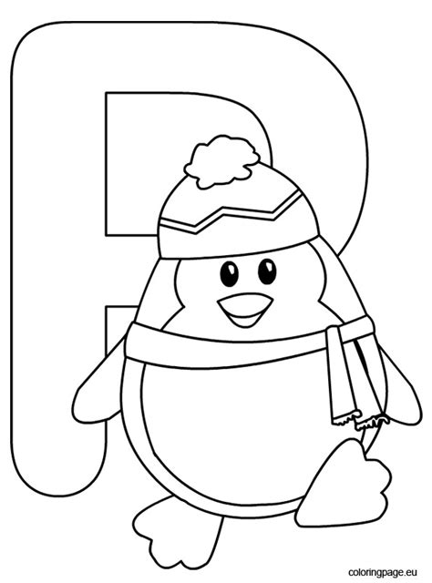 P Coloring Pages by Alphabet P Free Colouring Pages