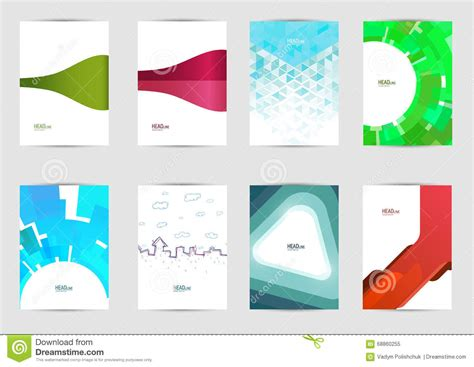 cover layout image set of templates covers for flyer brochure banner