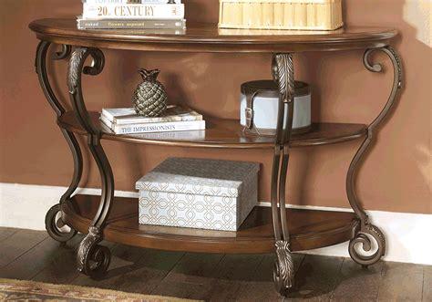 Nestor Medium Brown Sofa Table Lexington Overstock Warehouse Overstock Sofa Table