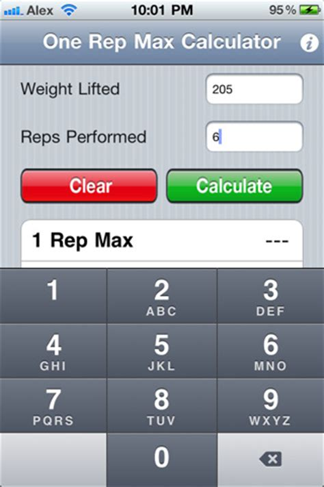 one rep max calculator bench rep max chart download now doc images frompo