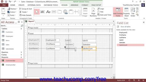 how to get layout view in access 2013 access 2013 tutorial creating a report in design view