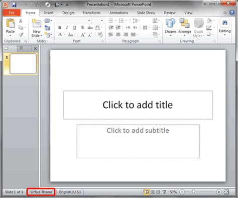 Change The Default Template Or Theme In Powerpoint 2010 Powerpoint Replace Template