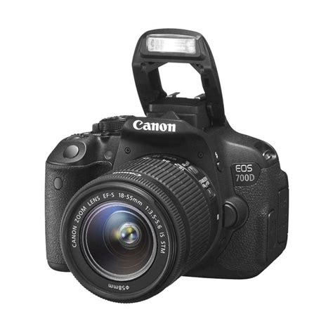 jual canon eos 700d lensa kit 18 55mm is stm kamera dslr hitam 18 mp harga