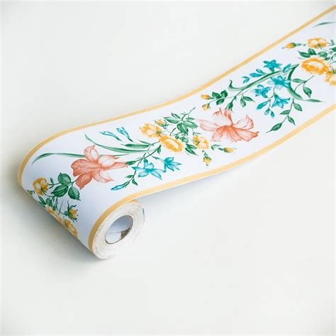 self adhesive wallpaper borders gerbera self adhesive wallpaper borders home decor roll