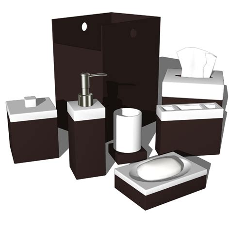 Bathroom Collection Set by Bathroom Accesories 06 3d Model Formfonts 3d Models