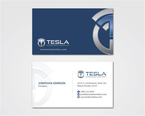 Tesla Buisness Card Template by Business Cards Design Contest Gallery Card Design And