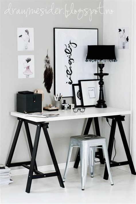 black and white desk pictures on black and white office decor interior design