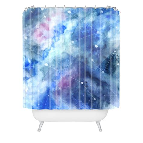 stars shower curtain connecting stars woven shower curtain wonder forest