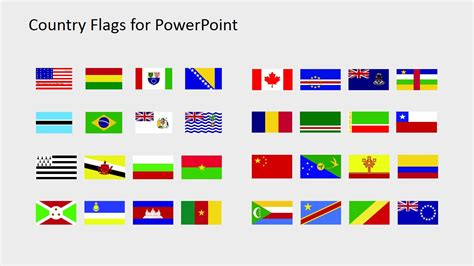 Country Flags Clipart For Powerpoint B To C Slidemodel Flags Of The World Powerpoint