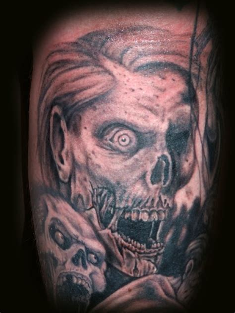 zombie tattoo gun zombie tattoos