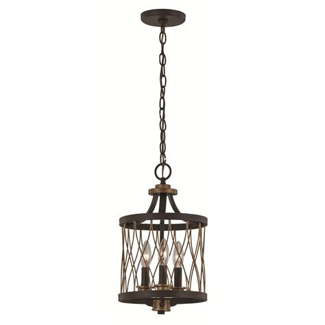 Transglobe Lighting by Trans Globe 70695 Rob 3 Light Pendant In Rubbed Bronze