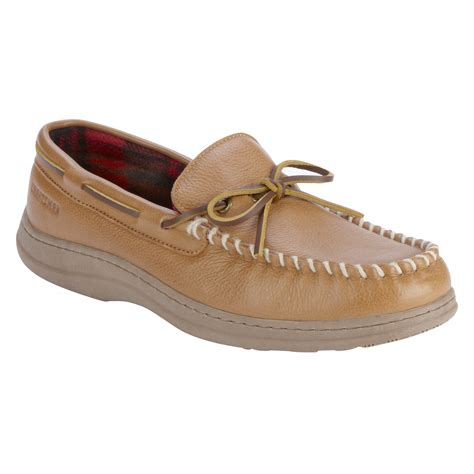 sears slippers for craftsman s leather moccasin slipper karibu