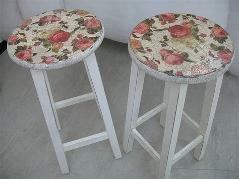 Decoupage Stool - decoupage stools ideas diy