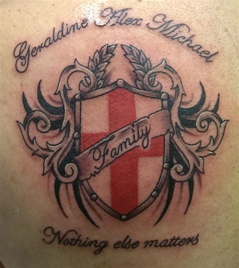 sheild tattoo family shield northern soul liverpool