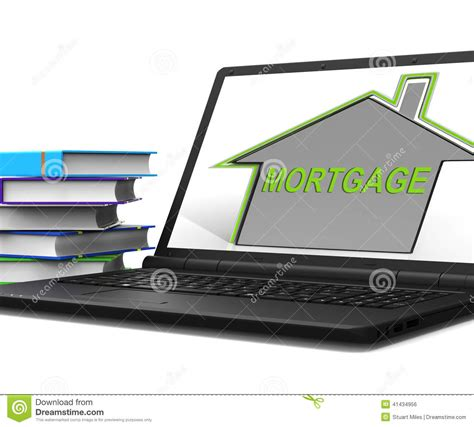 house mortgage meaning mortgage house tablet means repayments on property loan stock photo cartoondealer