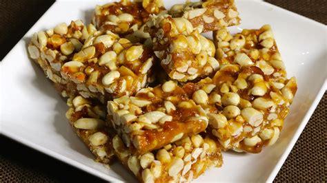peanut chikki peanut brittle manjula s kitchen