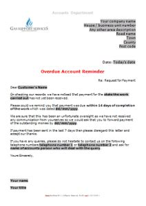 Service Reminder Letter Everyday Business Forms Gas Support Services