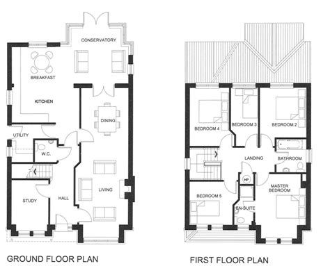 5 bedroom floor plans 2 story five bedroom house plans two story unique house floor