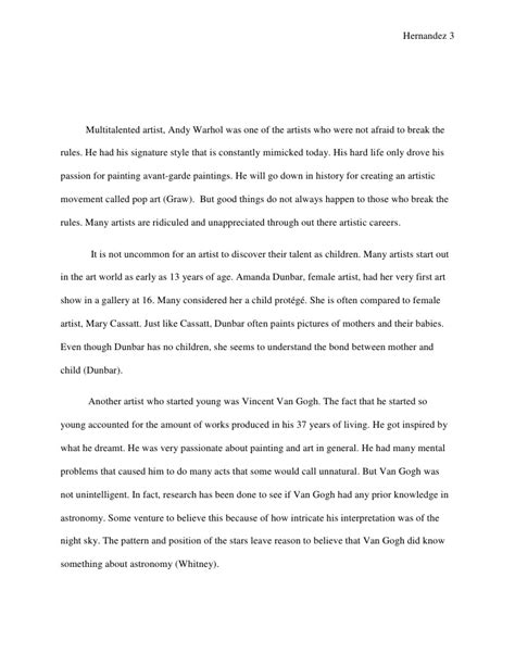 Tattoo Artist Research Paper | research paper