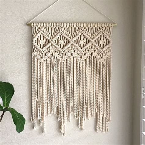 New Macrame Patterns - 25 best ideas about macrame wall hangings on