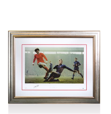 george best signed photo framed george best and harris signed photo
