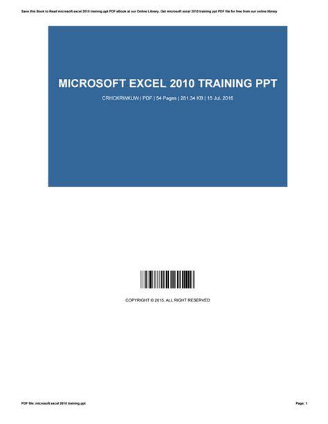 excel 2010 powerpoint tutorial microsoft excel 2010 training ppt by rolandmadsen2612 issuu