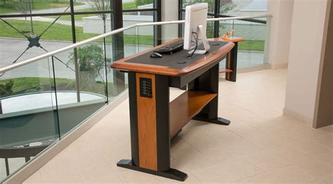 wood cable management desks tables for home and office