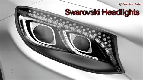 mercedes s class headlights mercedes s class coupe 2015 2 headlight ve 3d model max
