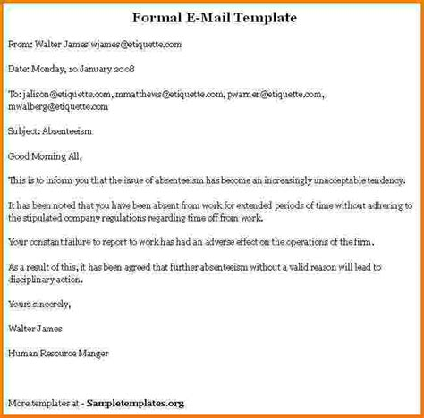 format of formal business email 8 formal business email format sle financial