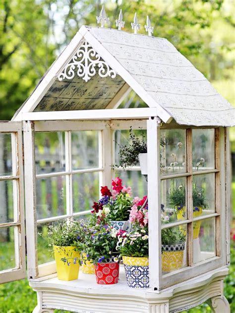diy backyard mini greenhouse hgtv