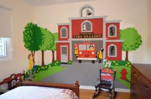 Fire Station Wall Mural Fire Station Themed Room Traditional Kids Wall Decor
