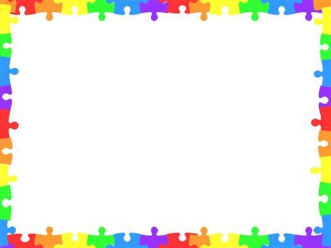 30 puzzle pieces border clipart