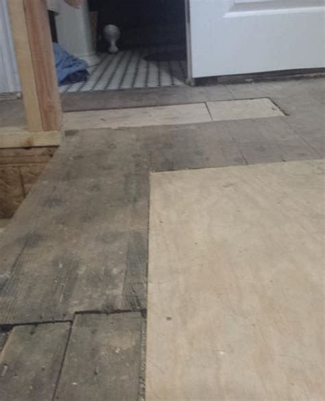 leveling an old plank floor for cork installation