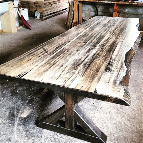 rustic wood dining tables live 25 best ideas about live edge table on wood slab dining table wood dining room