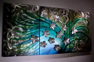 home decor painting floral art metal wall sculpture abstract home decor