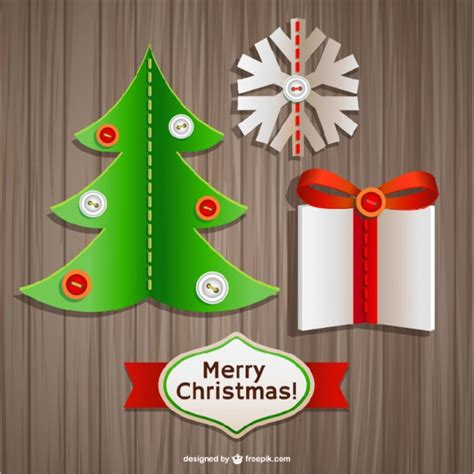 3d Sticker Vector by 3d Christmas Stickers Vector Free Download