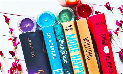 the rainbow annotated books celebrate pride with rainbow book stacks