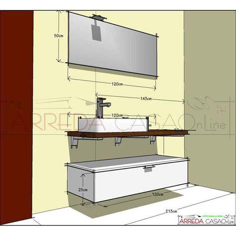 bagno compab mobile bagno compab b201 top legno massello rovere bollito