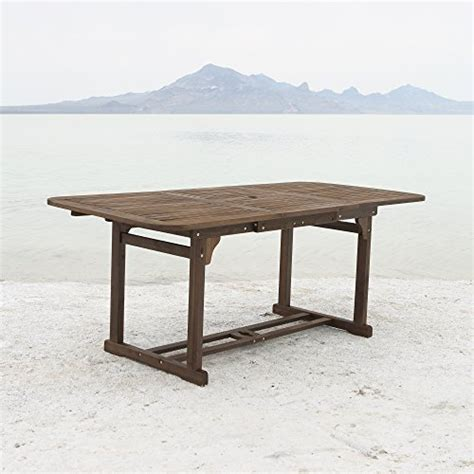 Solid Acacia Wood Dining Table We Furniture Solid Acacia Wood Patio Extendable Dining Table Homegoodsreview