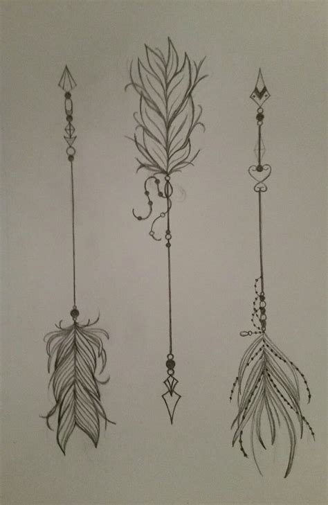 arrow tattoo designs pretty feather arrows ideas arrow