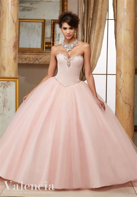 tulle ball gown quinceanera dress style  morilee