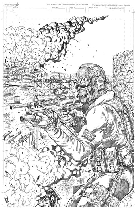 coloring pages of advanced warfare ghost from cod mw 2 by danielpicciotto on deviantart