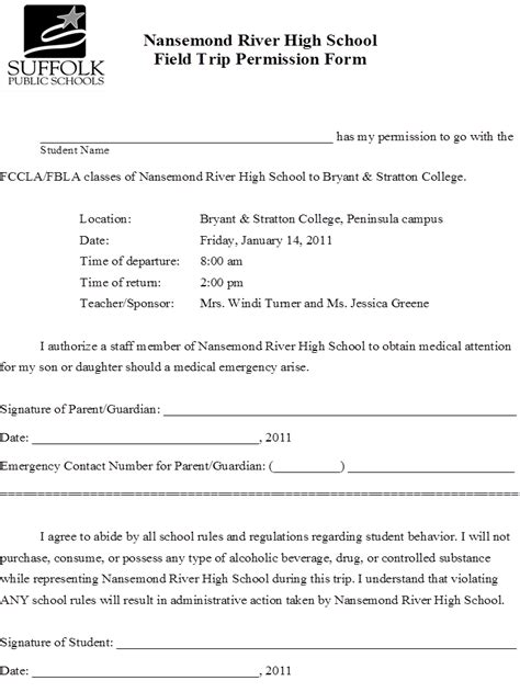 Parents Consent Letter For Field Trip dissertation letter permission