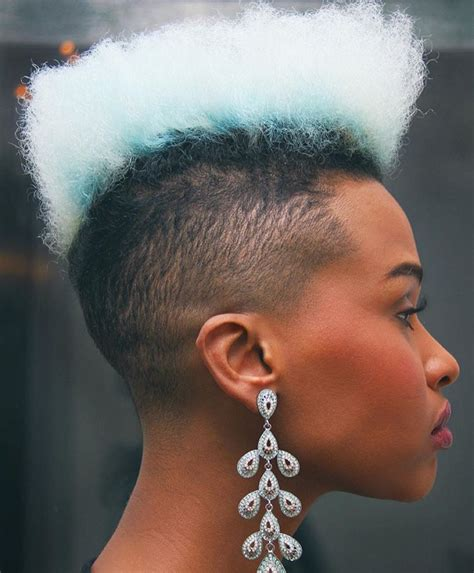 black short hair fades for woman flat top black women natural hairstyles